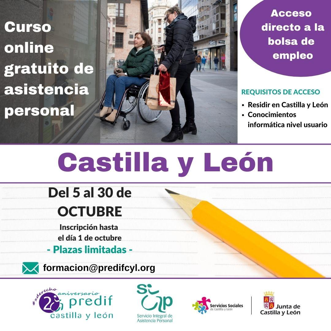 Cartel curso online gratuito asistencia personal