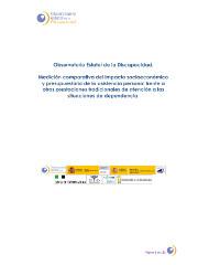 Medición comparativa del impacto socioeconómico y presupuestario de la asistencia personal frente a otras prestaciones tradicionales de atención a las situaciones de dependencia