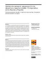 Asistencia personal: equiparación de derechos y oportunidades. Comparativa entre Suecia y España