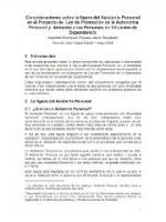 Consideraciones sobre la figura del Asistente Personal en el Proyecto de Ley de Promoción de la Autonomía Personal y Atención a las Personas en Situación de Dependencia